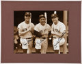 Autographs:Photos, Circa 1980 Roger Maris, Yogi Berra & Mickey Mantle Signed Photograph....