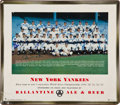 Autographs:Photos, 1953 New York Yankees Team Signed Advertising Sign....