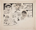 Baseball Collectibles:Others, 1932 World Series Game Four Original Cartoon Artwork by Coyne....
