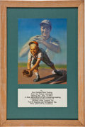 "Baseball Collectibles:Others, 1953 Christina ""Mom"" Gehrig Presentational Award from MilfordLittle League...."