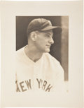 Baseball Collectibles:Photos, Circa 1930 Lou Gehrig Large Photograph by George Burke....
