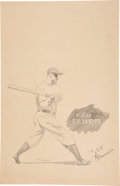 Baseball Collectibles:Others, 1920's Lou Gehrig Original Artwork Inscribed to Gehrig Himself....