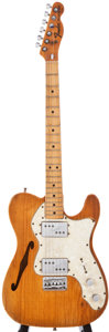 Musical Instruments:Electric Guitars, 1972 Fender Telecaster Thinline Natural Solid Body Electric Guitar, #368653....