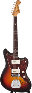 Musical Instruments:Electric Guitars, 1962 Fender Jazzmaster Sunburst Solid Body Electric Guitar,#70058....