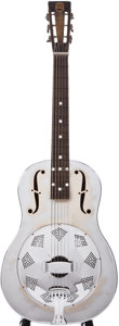 Musical Instruments:Resonator Guitars, 1930s National Triolian Chrome Resonator Guitar, #N/A....