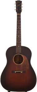 Musical Instruments:Acoustic Guitars, 1944 Gibson J-45 Sunburst Acoustic Guitar, #2222....