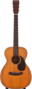 Musical Instruments:Acoustic Guitars, 1943 Martin 0-18 Natural Acoustic Guitar, #86446....