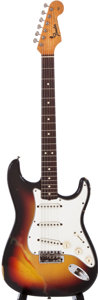 Musical Instruments:Electric Guitars, 1964 Fender Stratocaster Sunburst Solid Body Electric Guitar,#76103....