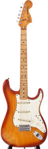 Musical Instruments:Electric Guitars, 1981 Fender Stratocaster Cherryburst Solid Body Electric Guitar, #S997675....