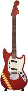 Musical Instruments:Electric Guitars, 1970 Fender Mustang Candy Apple Red Solid Body Electric Guitar,#295207....