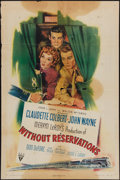 """Movie Posters:Comedy, Without Reservations (RKO, 1946). One Sheet (27"""" X 41""""). Comedy.. ..."""