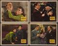 """Movie Posters:Mystery, The Man Who Wouldn't Die (20th Century Fox, 1942). Lobby Cards (4)(11"""" X 14""""). Mystery.. ... (Total: 4 Items)"""