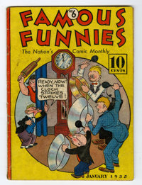 Famous Funnies #6 (Eastern Color, 1935) Condition: VG-