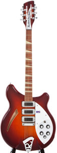 Musical Instruments:Electric Guitars, 2009 Rickenbacker 370/12 Amber Autumnglo 12-String Semi-Hollow Body Electric Guitar, #09 6000....
