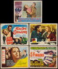 """Movie Posters:Film Noir, The Locket and Others Lot (RKO, 1946). Title Lobby Cards (3) and Lobby Cards (2) (11"""" X 14""""). Film Noir.. ... (Total: 5 Items)"""