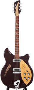 Musical Instruments:Electric Guitars, 2007 Rickenbacker 360 DCM 75th Anniversary Metallic BurgundySemi-Hollow Body Electric Guitar, # 07 12526....