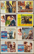 "Movie Posters:Adventure, Night People and Others Lot (20th Century Fox, 1954). Lobby Cards(8) (11"" X 14""). Adventure.. ... (Total: 8 Items)"
