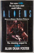 Books:Science Fiction & Fantasy, [JERRY WEIST COLLECTION]. Alan Dean Foster. SIGNED. Aliens. [London]: Severn House, [1987]. First British edition, f...