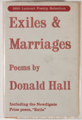 Books:Signed Editions, Donald Hall. SIGNED. Exiles and Marriages. New York: Viking Press, 1955. First edition, first printing. Signed by ...