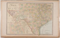 Antiques:Posters & Prints, Map of Texas Counties in Color. [n. d., ca. 1850]. Measures 13.5 x21.5 inches. Fold line through center with some minor ton...
