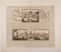 Antiques:Posters & Prints, Henri Chatelain. Fascinating Map of Early Mexico City from AtlasHistorique. 1719. Measures 17.5 x 20.75 inches. Fol...