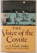Books:First Editions, J. Frank Dobie. The Voice of the Coyote. Boston: Little,Brown and Company, 1949. First edition. Octavo. 386 pag...