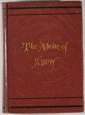 Books:Travels & Voyages, Andrew Wilson. The Abode of Snow. New York: G. P. Putnam's Sons, 1875. First American edition. Octavo. 380 pages. Fo...