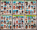 Baseball Cards:Sets, 1969 Baseball Stars Photostamps Complete Set (18 Panels). ...