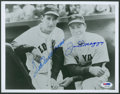 Baseball Collectibles:Photos, Joe DiMaggio and Ted Williams Multi Signed Photograph....