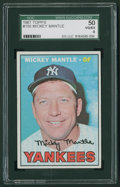 Baseball Cards:Singles (1960-1969), 1967 Topps Mickey Mantle #150 SGC 50 VG/EX 4....