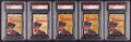 Non-Sport Cards:Unopened Packs/Display Boxes, 1958 Argentina Zorro Unopened Paper Packs Group (5). ...
