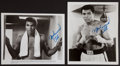 Autographs:Bats, Muhammad Ali Vintage Signed Photographs Lot of 2....