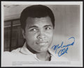 Boxing Collectibles:Autographs, Muhammad Ali Vintage Signed Photograph....
