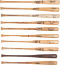 Baseball Collectibles:Bats, Circa 1980's/90's Major League Game Used Bats Lot of 10. ...