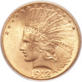 Indian Eagles, 1912-S $10 MS64 PCGS. CAC....
