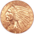 Indian Half Eagles, 1915 $5 MS64+ PCGS....