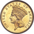 Three Dollar Gold Pieces, 1867 $3 MS62 PCGS. CAC....