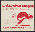 "Movie Posters:Animated, Looney Tunes ""The Haunted Mouse"" (Warner Brothers, 1941). TitleSnipe (7.75"" X 8.5""). Animated.. ..."