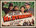 "Movie Posters:Mystery, Mr. Dynamite (Universal, 1941). Title Lobby Card (11"" X 14"").Mystery.. ..."
