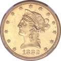 Liberty Eagles, 1882-O $10 AU58 NGC. CAC. Variety 1....