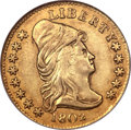 Early Quarter Eagles, 1802/1 $2 1/2 AU55 NGC. CAC. Breen-6118, BD-3, R.5....