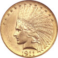 Indian Eagles, 1911-D $10 MS62 NGC. CAC....