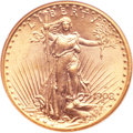 Saint-Gaudens Double Eagles, 1908-D $20 Motto MS65 NGC. CAC....