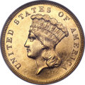 Three Dollar Gold Pieces, 1886 $3 MS63 Prooflike NGC....