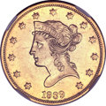 Liberty Eagles, 1839 $10 Type of 1838, Large Letters AU58 NGC....