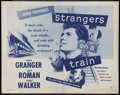 """Movie Posters:Hitchcock, Strangers on a Train (Warner Brothers, R-1957). Half Sheet (22"""" X28""""). Hitchcock.. ..."""