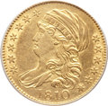 Early Half Eagles, 1810 $5 Large Date, Large 5 -- Cleaned -- ANACS Details. AU55.Breen-6459, BD-4, R.2....