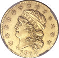 Early Half Eagles, 1813 $5 MS60 NGC. Breen-6467, BD-1, R.2. ...