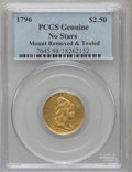 Early Quarter Eagles, 1796 $2 1/2 No Stars--Damage, Mount Removed & Tooled--GenuinePCGS. This PCGS number ending in 98 Damage as the reason, or ...