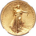High Relief Double Eagles, 1907 $20 High Relief, Wire Rim -- Damaged -- NGC Details. AU....